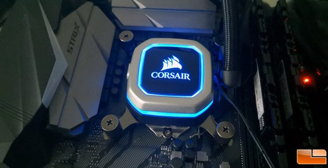 Corsair H100i Pro RGB Lighting