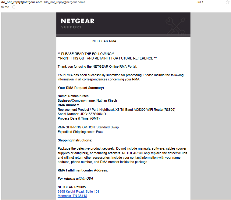 How Quick Is The Netgear RMA / Warranty Process in 2018? - Legit Reviews