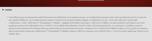 AMD  Ryzen Threadripper 2990WX Cinebench Score