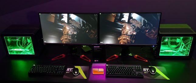 NVIDIA DLSS Demo on GeForce RTX 2080 Ti Versus GeForce GTX 1080 Ti