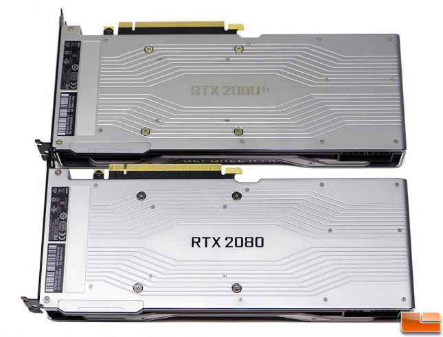 NVIDIA GeForce RTX 2080 Back Plates
