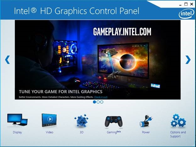 Intel Graphics GUI