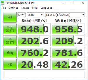 MyDigitalSSD M2X CrystalDiskMark