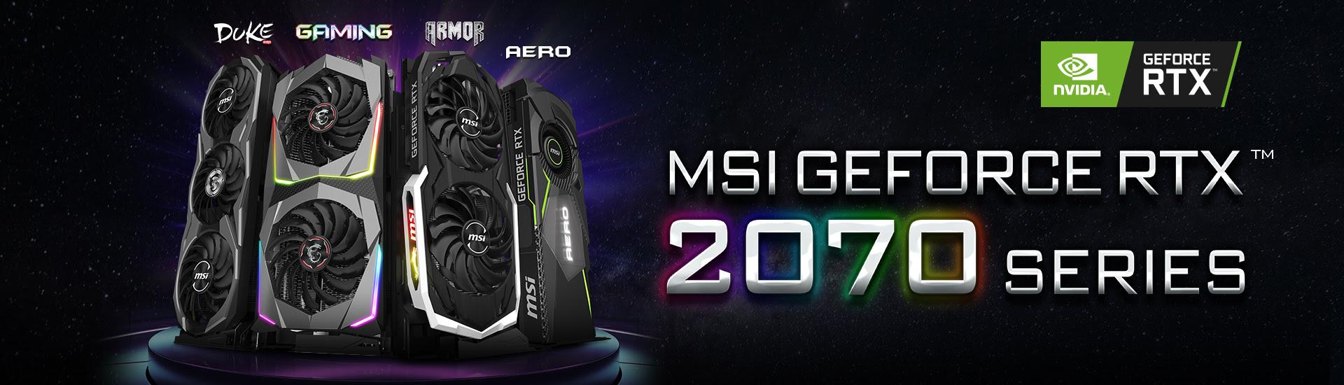 MSI Announces Custom GeForce RTX 2070 Graphics Cards - Legit Reviews