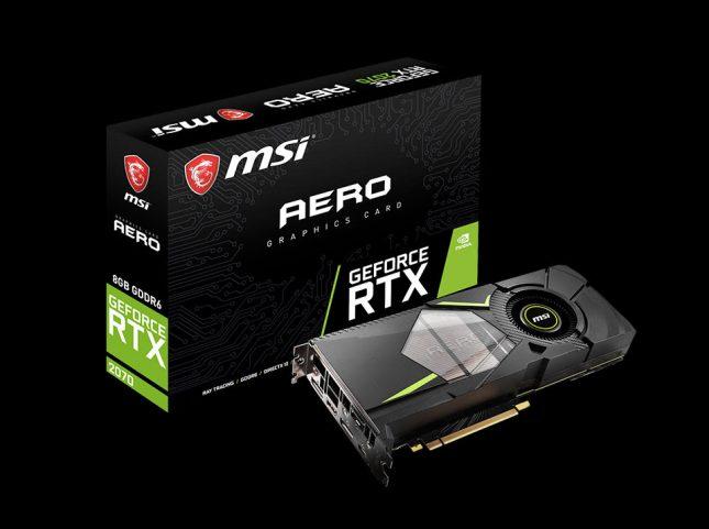 RTX 2070 AERO 645x481 - MSI Announces Custom GeForce RTX 2070 Graphics Cards