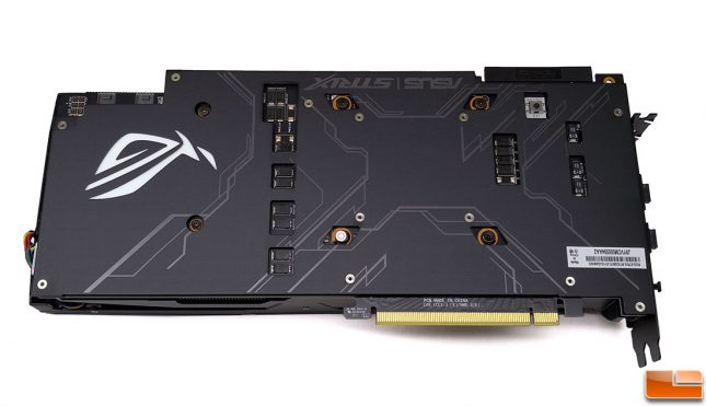 ROG Strix 2080 Ti Video Card Back