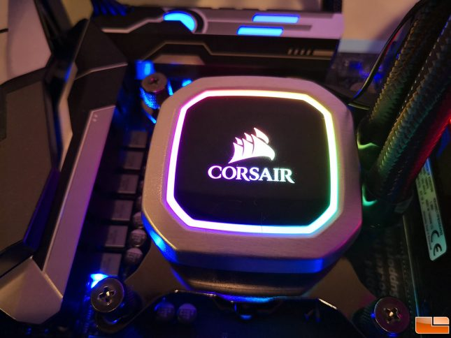 Corsair H100i RGB Platinum AIO CPU Cooler Pump Head