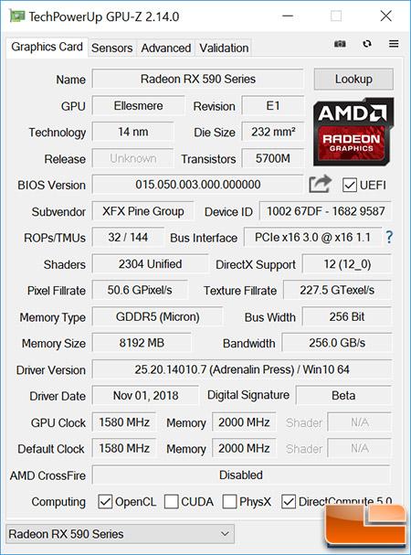 Radeon RX 590 GPU-Z