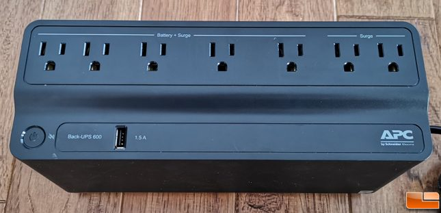 APC BE600M1 outlets