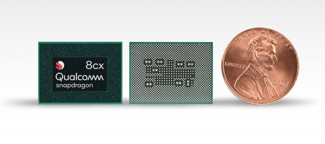 Snapdragon 8cx Chip Next To Penny