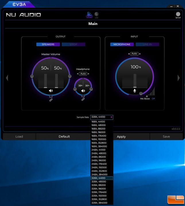 EVGA NU Audio Software