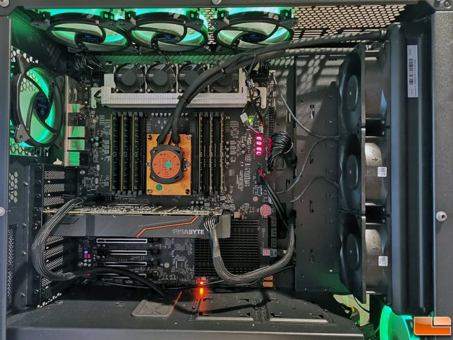Intel C621 Test System with Gigabyte Board