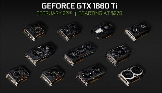 NVIDIA GeForce GTX 1660 Ti Cards