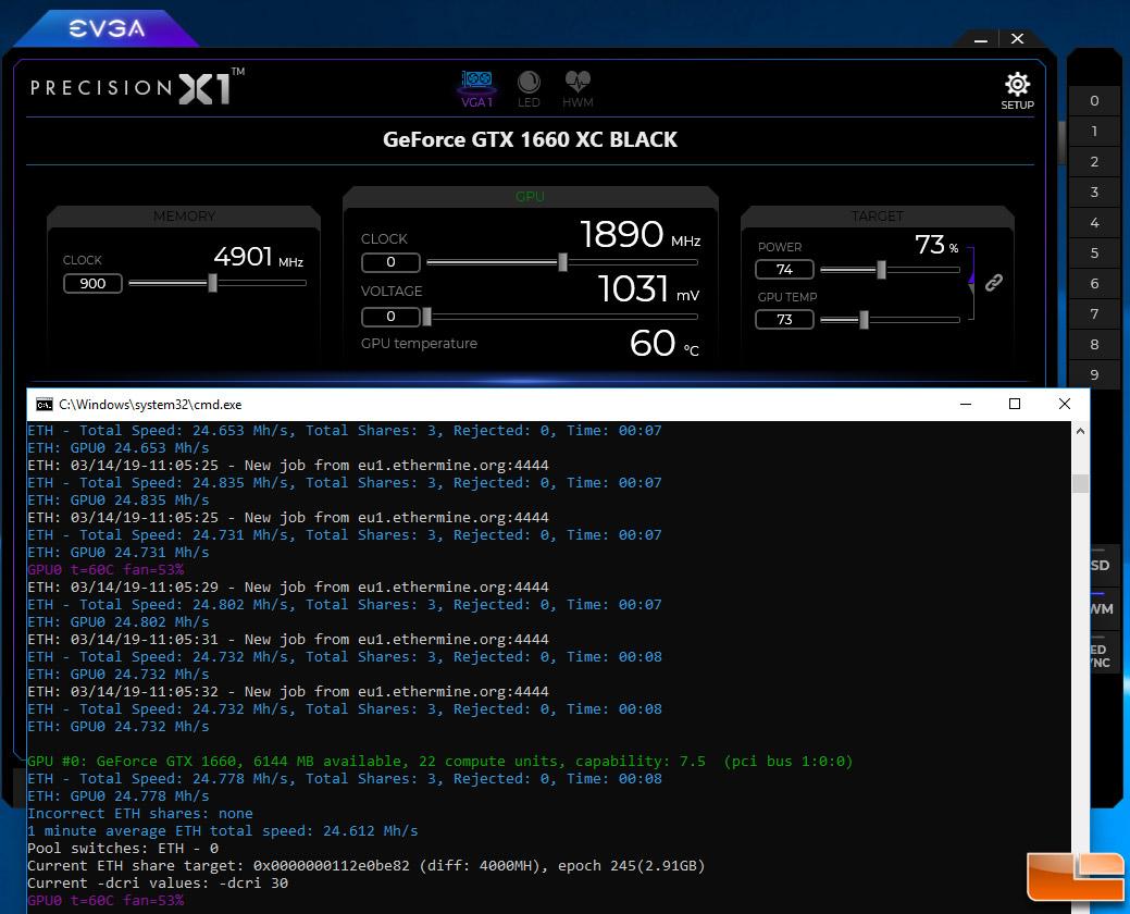 Ethereum Mining - GeForce GTX 1660 Ti versus GeForce GTX 1660
