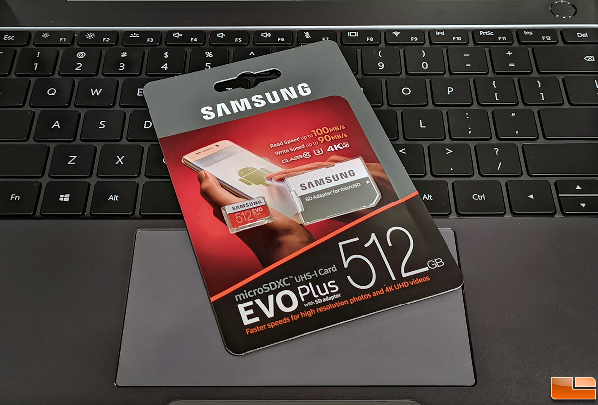 Samsung 512 GB EVO Plus MicroSD Card with Adapter Review - Legit ReviewsSamsung 512 GB EVO Plus
