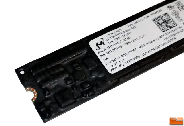 micron 1100 M.2 SATA SSD with FIPS-2 Security