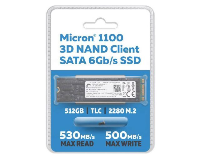 Micron 1100 512GB M.2 SATA SSD