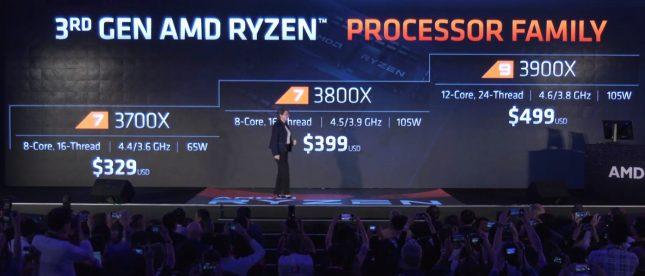 AMD 3rd Gen Ryzen Pricing