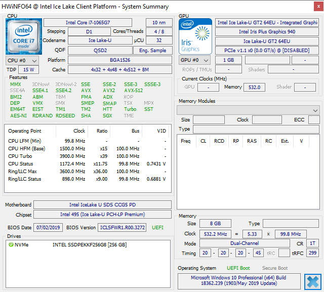 Intel 10nm Ice Lake Benchmarks on the Core i7-1065G7 Processor